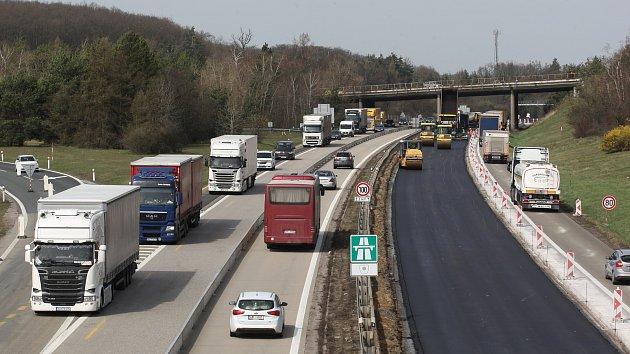 Uzavírky na dálnici D1 před Brnem.