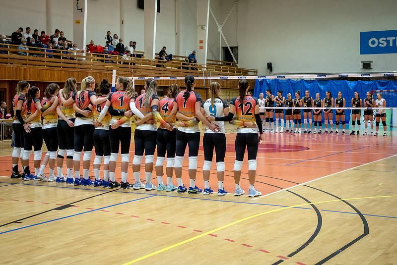 Utkání 3. kola volejbalové extraligy žen: TJ Ostrava - VK Šelmy Brno, 28. září 2020 v Ostravě.