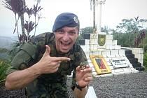 Desetidenní výcvik v pralesích Francouzské Guayany podstoupil nedávno pětadvacetiletý voják Martin Hejda.