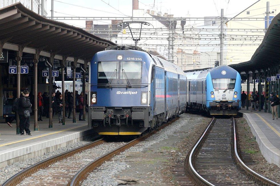 Hlavní nádraží v Brně.