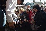 Svatý Martin na brněnském náměstí Svobody.