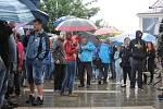 Úterý patřilo na jižní Moravě demonstracím. Na snímku protesty v Břeclavi.