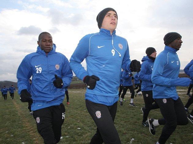 Fotbalisté Zbrojovky se sešli na trénink.
