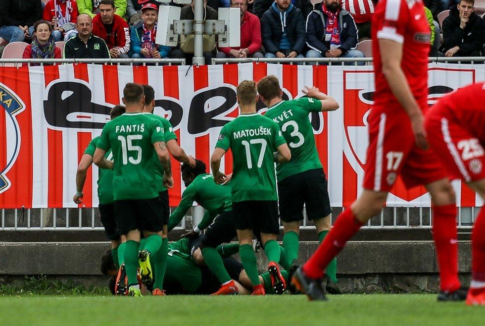 Úvodní utkání baráže o FORTUNA:LIGU Zbrojovka Brno - 1. FK Příbram 3:3