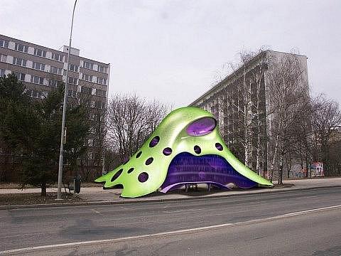 Původní vizualizace návrhu zastávky v ulici Brechtova v Brně.
