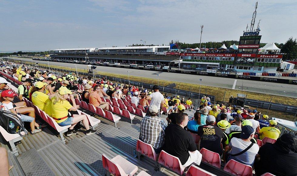 Motocyklovou Velkou cenu České republiky letos navštívilo za tři dny 187 tisíc diváků.