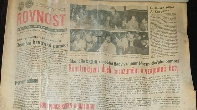Nalezený historický výtisk Rovnosti z pátku 20. června 1980.