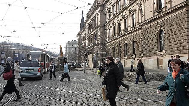 Začala rekonstrukce brněnské ulice Joštova.
