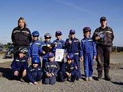 Na loňském závodě u pohár starosty útěchovských hasičů vybojovaly děti třetí místo.