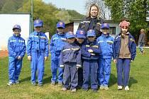 Mladí hasiči na závodě Plamen v Brně-Pisárkách.