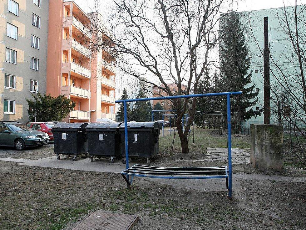 Vnitroblok v brněnské ulici Rybářská.