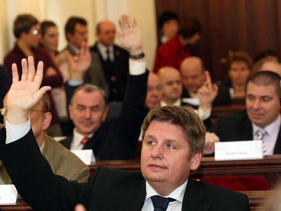 Zasedání zastupitelstva Jihomoravského kraje.