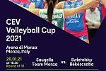 Program volejbalových zápasů v italské Monze.