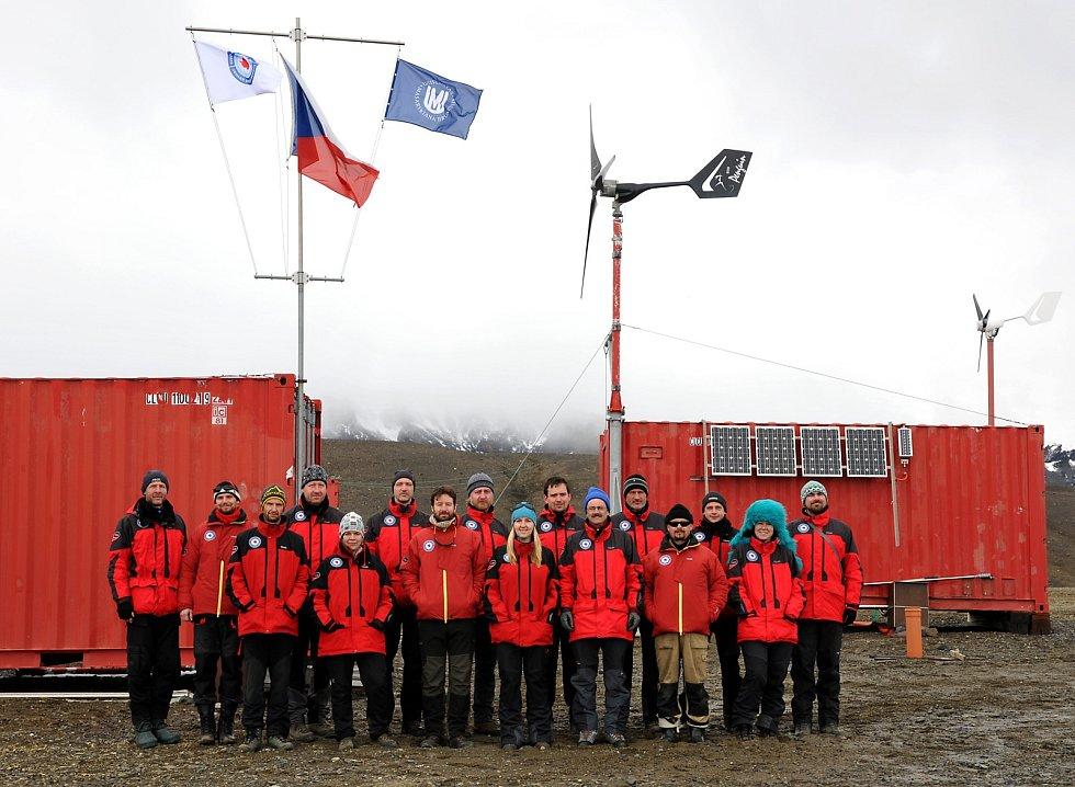 Brněnští vědci na Antarktidě.