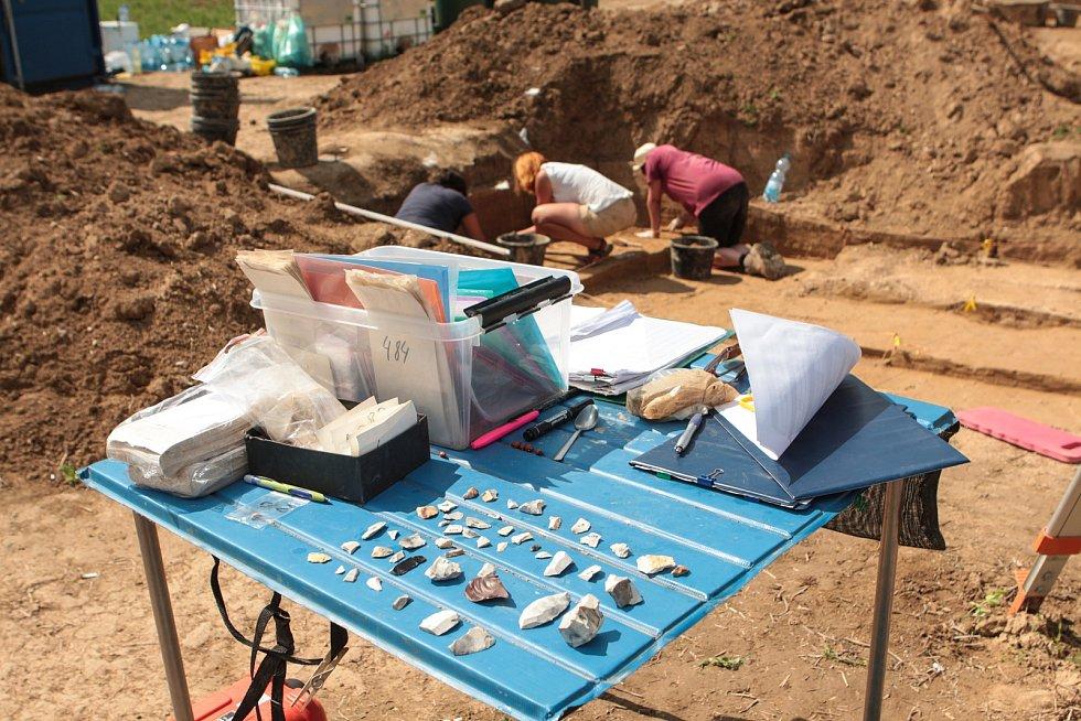 Archeologické vykopávky v Podolí.