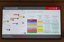 Obrazovky s informacemi o kvalitě ovzduší už nyní lidé najdou v budovách brněnského magistrátu. Nově přibudou i na přestupních uzlech hromadné dopravy.