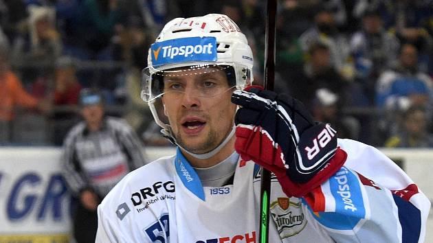 Útočník Jan Hruška.