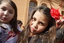 Týden romské hrdosti zahájili u Stromu tolerance v brněnském parku Lužánky.