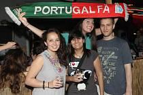 Čeští i portugalští fanoušci sledovali zápas ve Sport bar areně v Hybešově ulici v Brně.