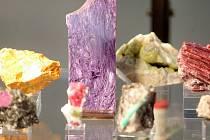 Výstava minerálů na brněnském výstavišti.