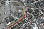 Plánované omezení dopravy v Křížkovského ulici.