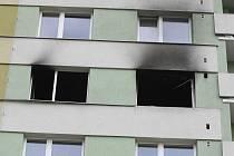 Výbuch v bytě v brněnském Komárově.