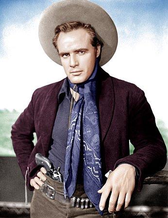 Marlon Brando vtitulní roli Křiváka ve stejnojmenném filmu (One eyed jacks).