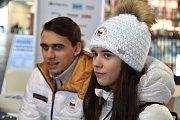 Olympijský festival v areálu brněnského výstaviště - beseda s krasobruslaři Annou Duškovou a Martinem Bidařem, kteří se jako první vrátili z OH 2018.
