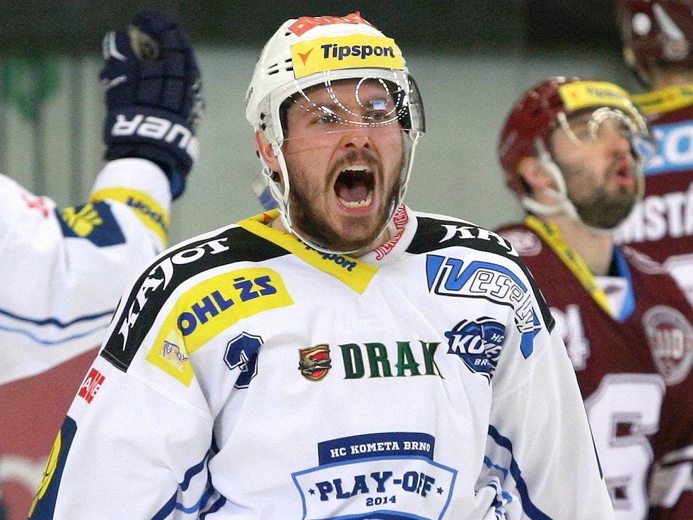Obránce hokejové Komety Brno Michal Kempný.