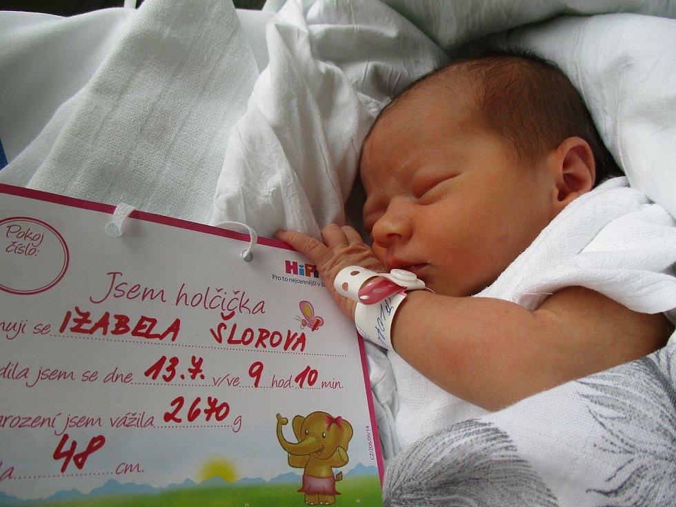 Izabela Šlorová, 13. 7. 2021, Šakvice, Nemocnice Břeclav, 2670 g, 48 cm