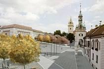 Vítězný návrh soutěže o revitalizaci náměstí Míru v Tišnově.