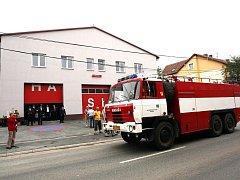 Poloprofesionální sbor hasičů ze Zastávky na Brněnsku.