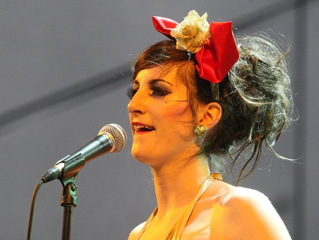 Klára Vytisková, zpěvačka skupiny Toxique.