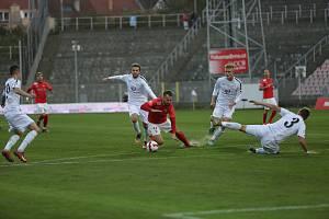 Fotbalový zápas mezi brněnskou Zbrojovkou a Vyškovem