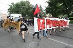 Pouliční demonstrace Protestfest prošla Brnem.