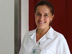 Lékařka Stanislava Potrepčiaková z Centra pro závislé na tabáku Fakultní nemocnice Brno.