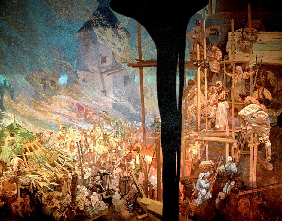 Hájení Sigetu proti Turkům Mikulášem Zrinským, Alfons Mucha.