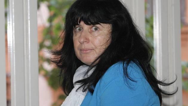 Eva Tomečková před brněnským krajským soudem.