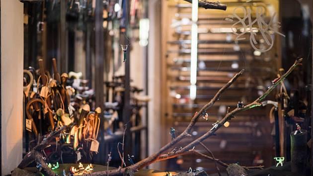 Cenu odborné poroty v soutěži Výloha roku získal obchod Hůlkárna, navrhla ji Nikola Logosová.