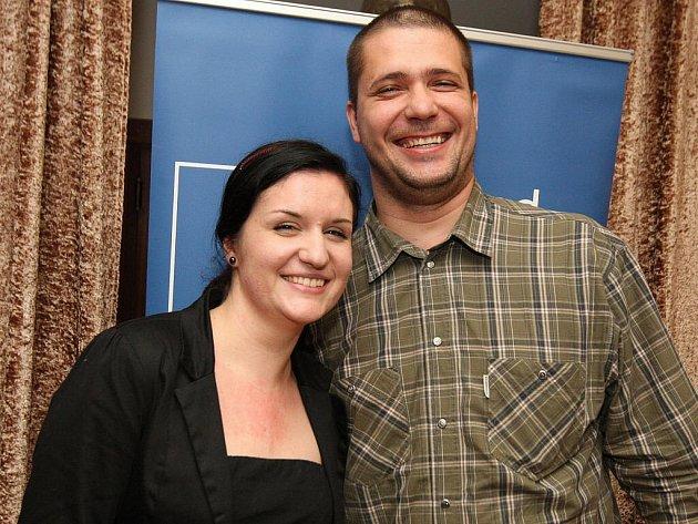Redaktorka Brněnského deníku Rovnost Lucie Hrabcová s šéfredaktorem Tomášem Hermanem.