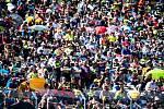 Finálový závod Moto3 Velká cena České republiky, závod mistrovství světa silničních motocyklů v Brně 4. srpna 2019. Na snímku diváci.
