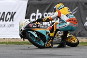Monster Energy Grand Prix České republiky 2017, Moto 3 - Gabriel Rodrigo po pádu v posledním kole.