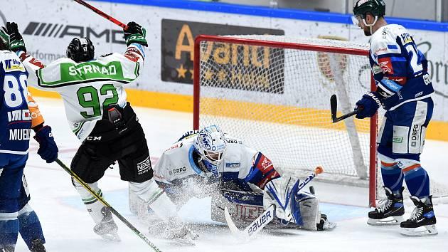 Brno 5.2.2021 - domácí HC Kometa Brno (modrá) proti BK Mladá Boleslav (Jakub Strnad)