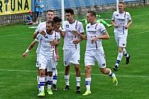Líšeňští fotbalisté po víc než měsíční pauze odehráli druholigové utkání, v němž porazili Chrudim 1:0.