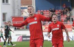 Brněnská Zbrojovka ve 26. kole nejvyšší fotbalové ligy před domácími fanoušky porazila Příbram 2:0.