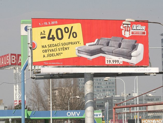 Billboard v Brně. Ilustrační foto.