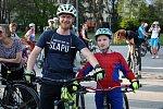Tradiční Velké jarní cyklojízdy se v parku na Moravském náměstí zúčastnily stovky milovníků jízdních kol.