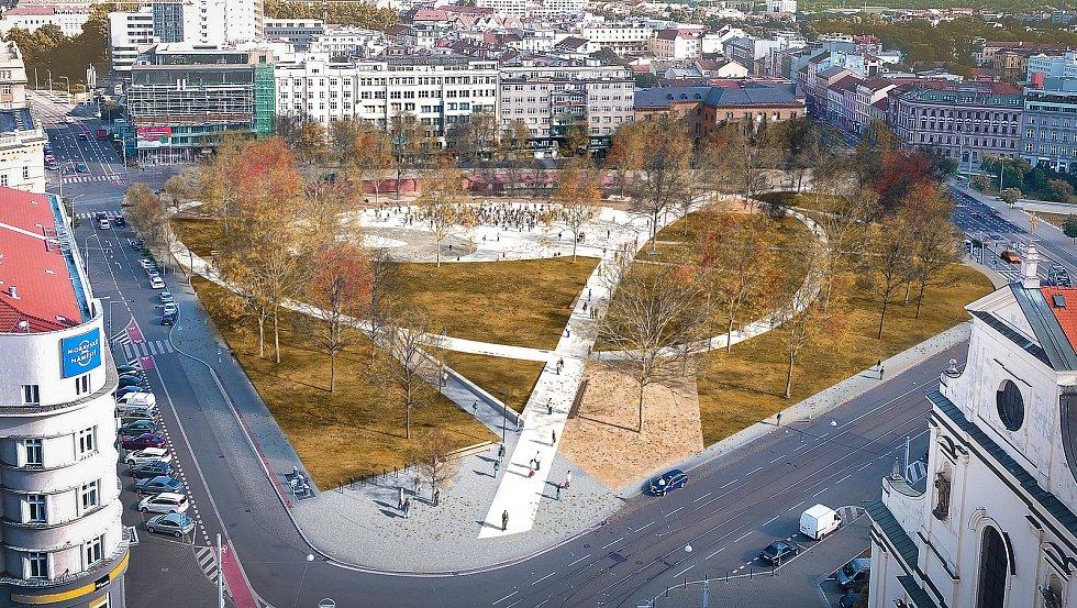Rekonstrukce parku na Moravském náměstí v Brně má začít nejpozději v červenci.