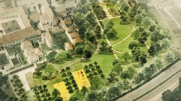 Vizualizace parku.