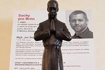 Jan Šebánek, autor vítězné sochy pátera Martina Středy.
